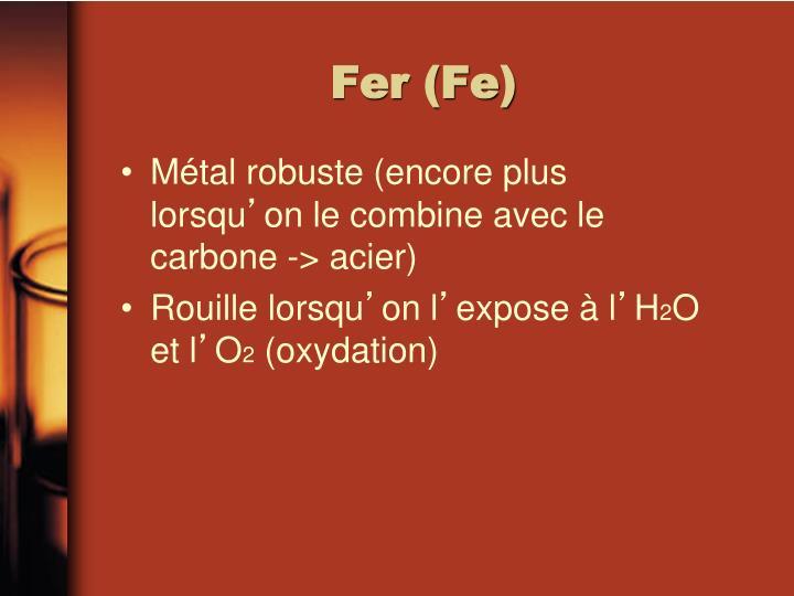 Fer (Fe)