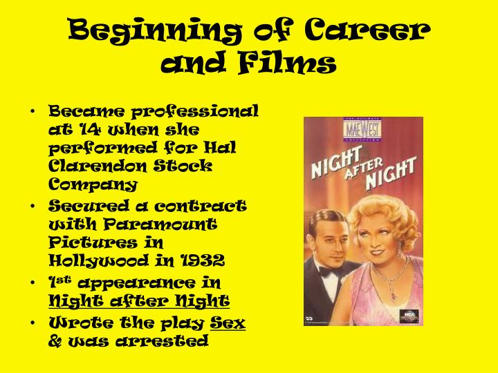 Beginning of Career and Films
