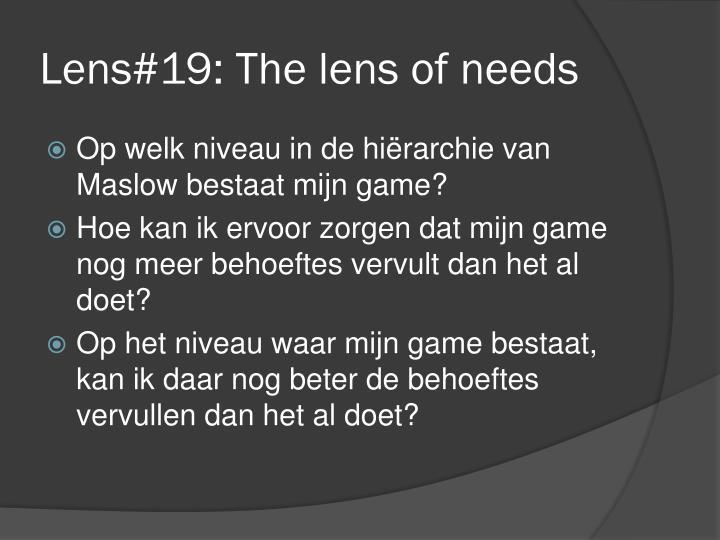 Lens#19: The lens of