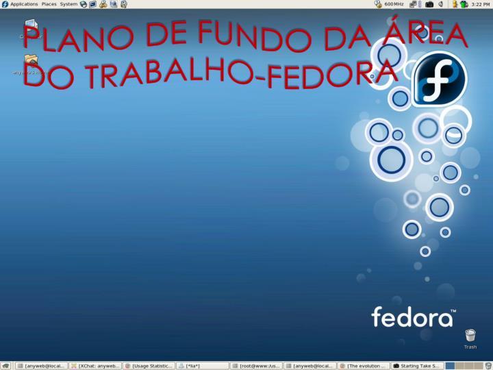 PLANO DE FUNDO DA REA DO TRABALHO-FEDORA