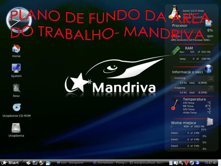 PLANO DE FUNDO DA REA DO TRABALHO- MANDRIVA