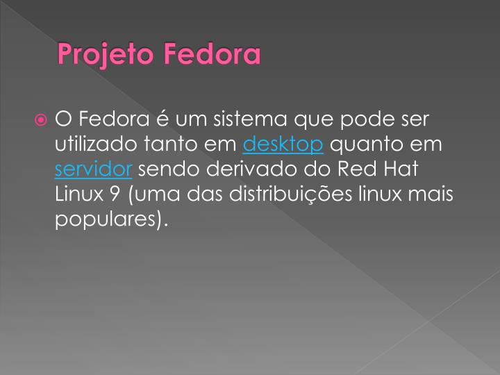 Projeto Fedora