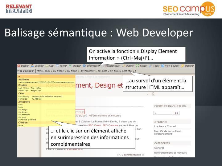 Balisage sémantique : Web