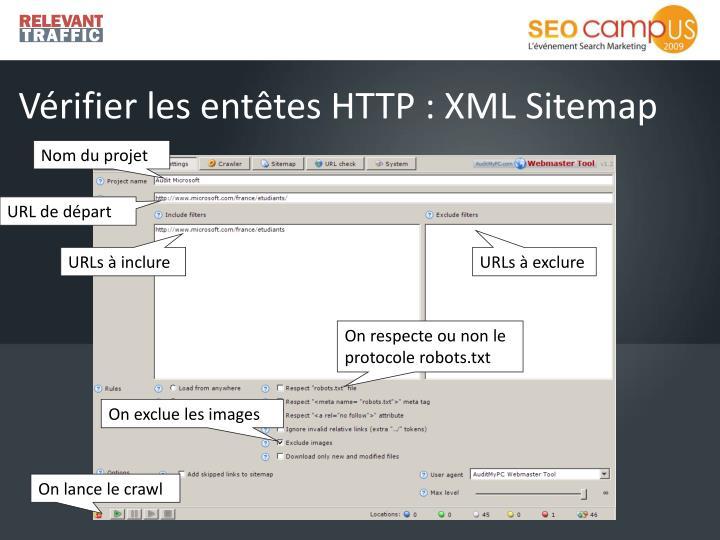 Vérifier les entêtes HTTP : XML