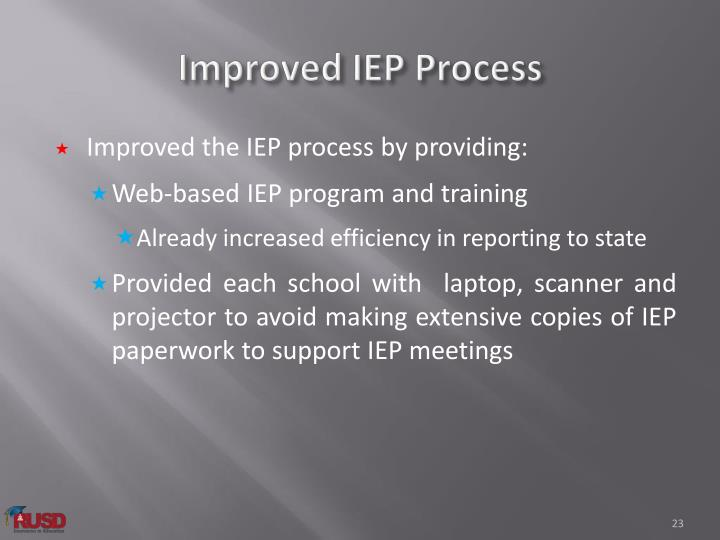 Improved IEP Process