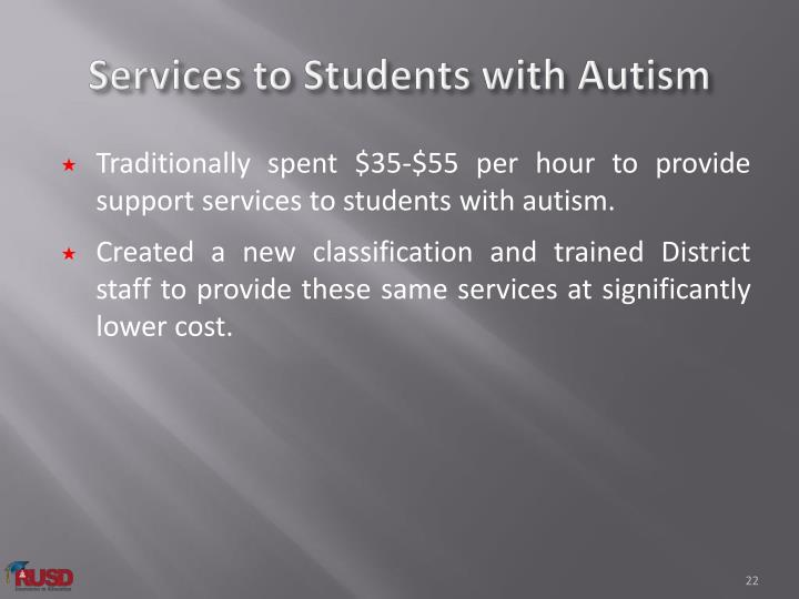Services to Students with Autism
