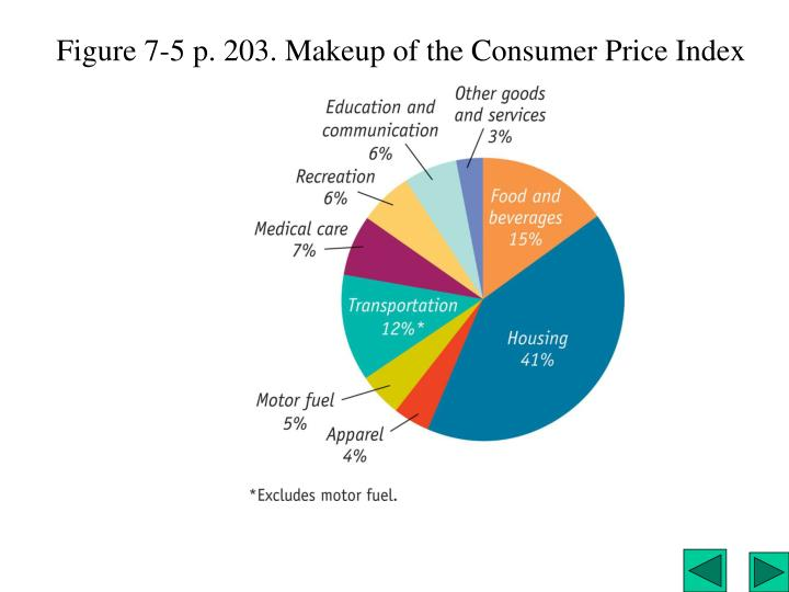 Figure 7-5 p. 203. Makeup of the Consumer Price Index
