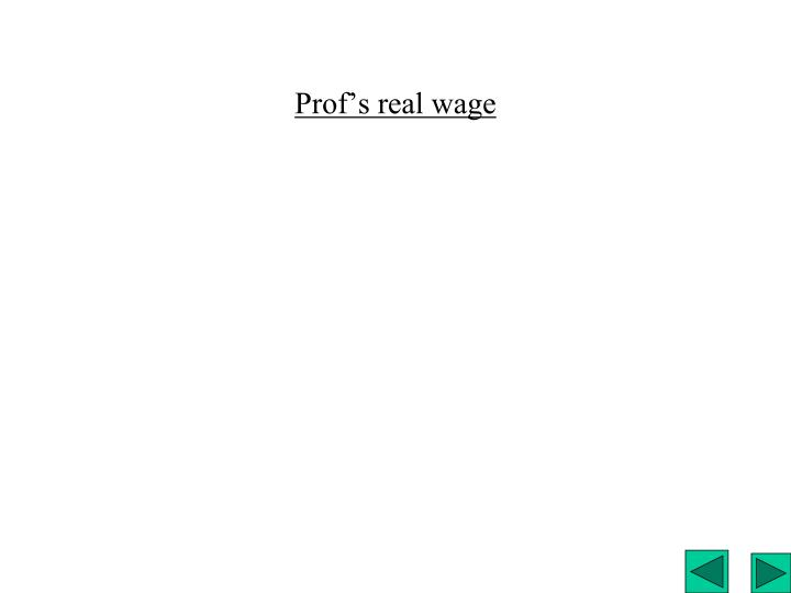 Prof's real wage