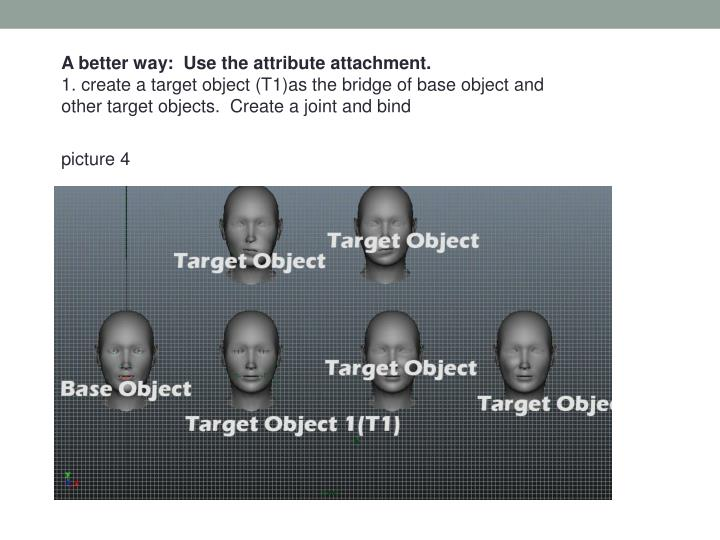 A better way:  Use the attribute attachment.
