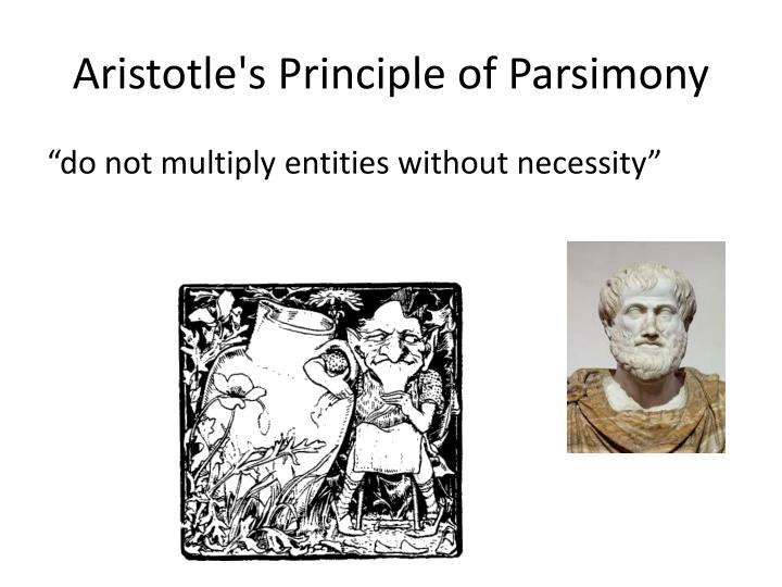 Aristotle's Principle of Parsimony