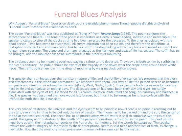 lullaby wh auden analysis essay Refugee blues' by auden and 'the last night' essay 1917 words 8 pages funeral blues by wh auden essay more about refugee blues' by auden and.