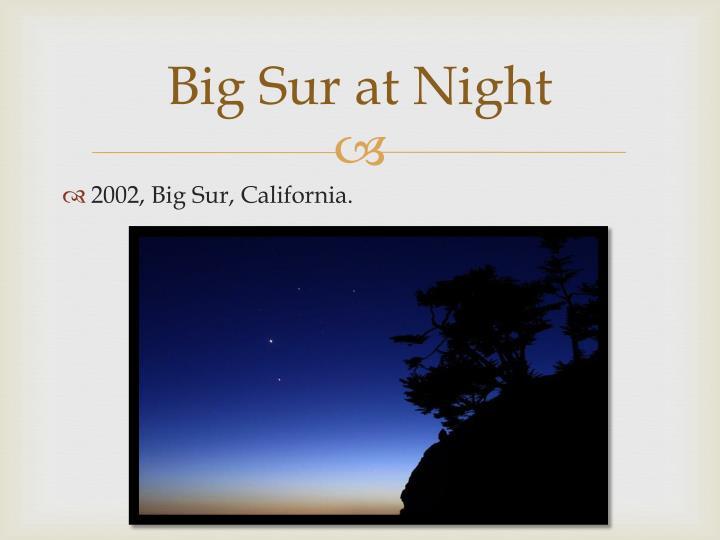 Big Sur at