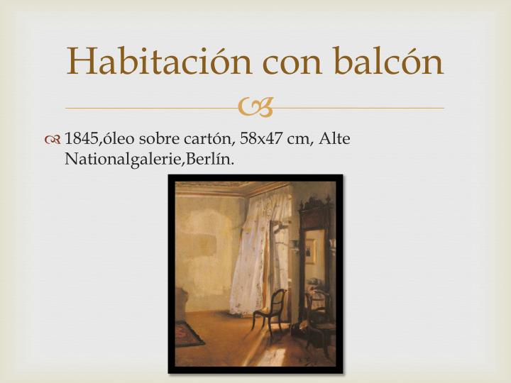 Habitación con balcón