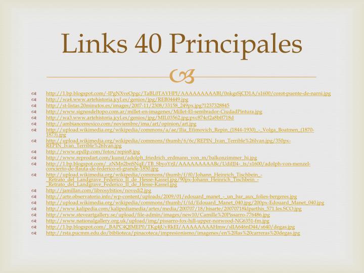 Links 40 Principales