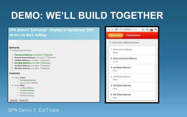 Demo: We'll build TOGETHER