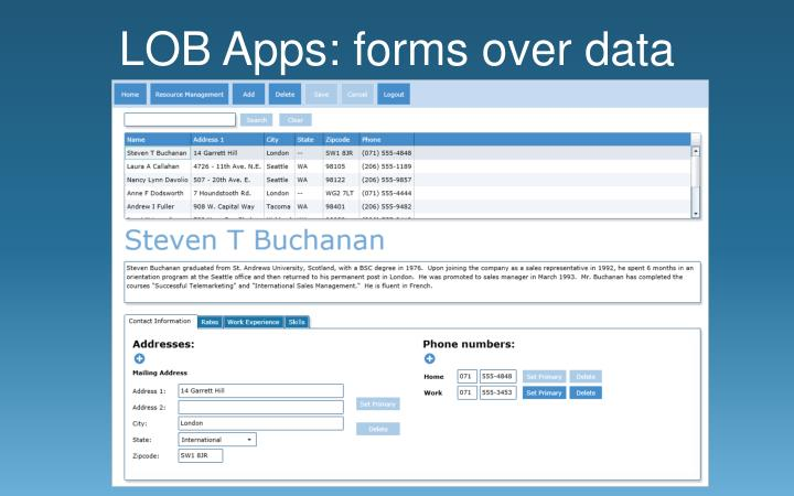 LOB Apps: forms