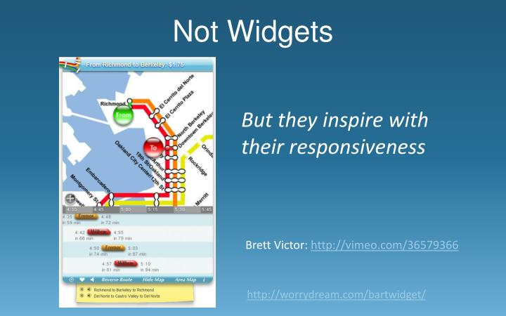Not Widgets