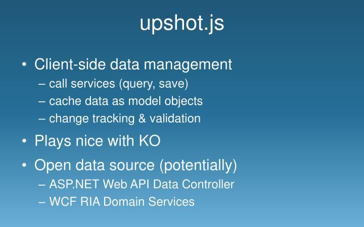 upshot.js