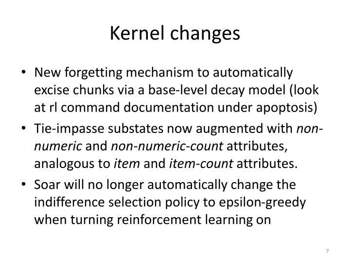 Kernel changes
