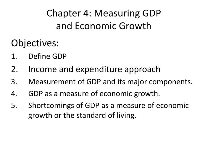 Chapter 4 measuring gdp and economic growth