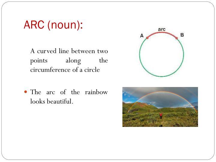 ARC (noun):