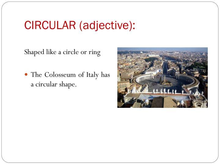 CIRCULAR (