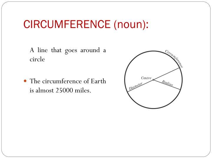 CIRCUMFERENCE (