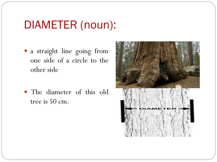 DIAMETER (