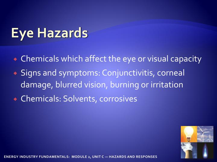 Eye Hazards