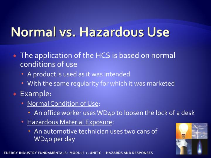 Normal vs. Hazardous Use
