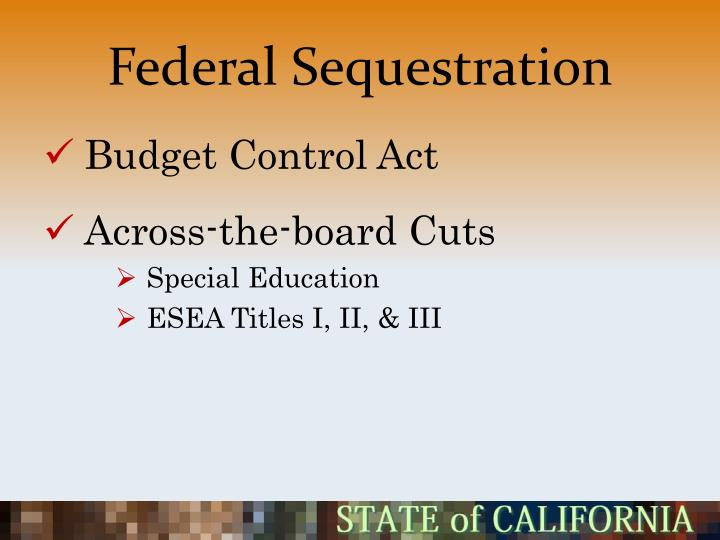 Federal Sequestration