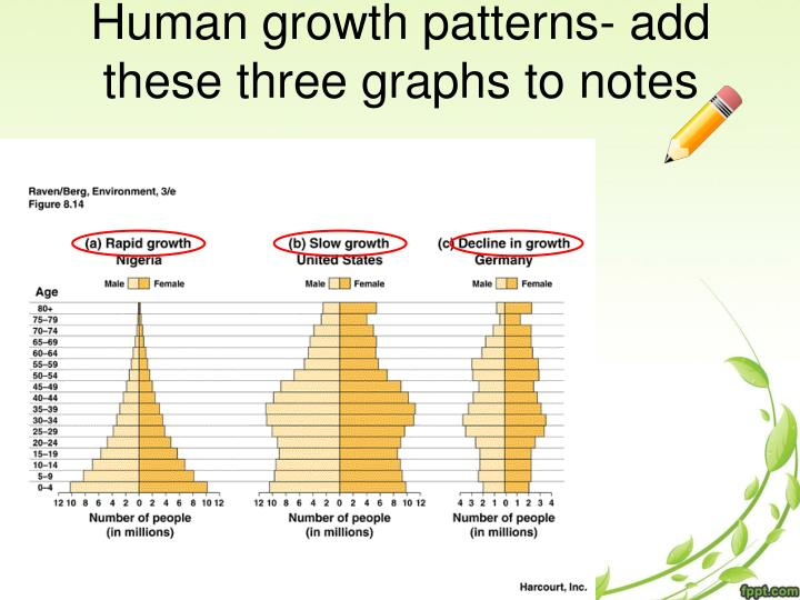 Human growth patterns- add these three graphs to notes