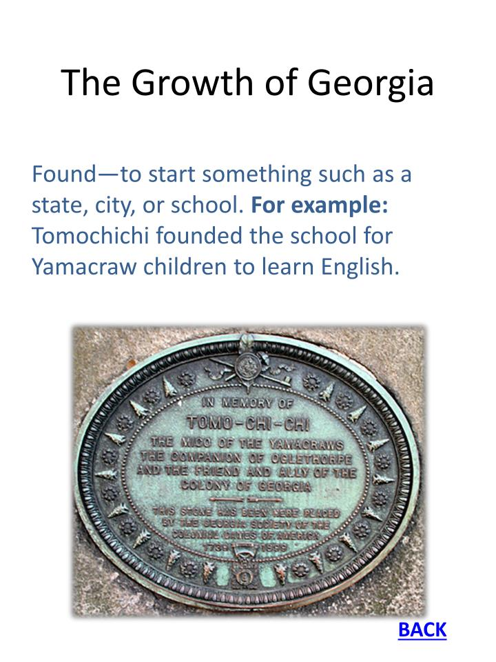 The Growth of Georgia