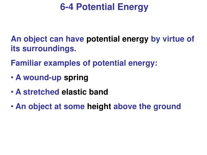 6-4 Potential Energy