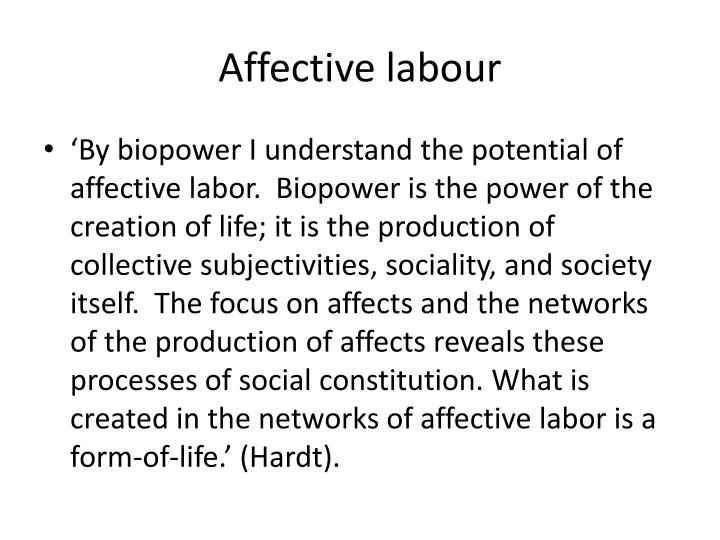 Affective labour