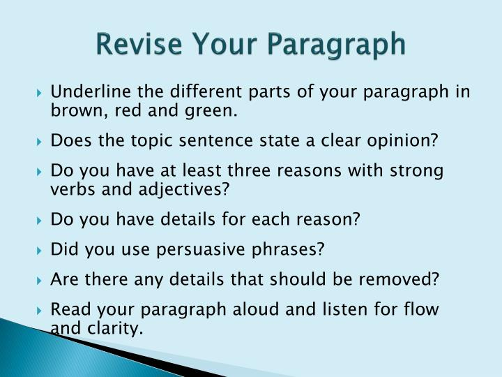 parts of a persuasive essay ppt