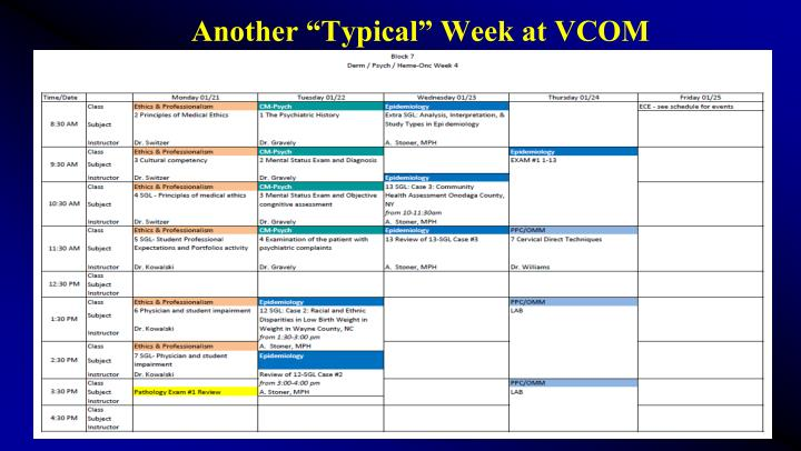 "Another ""Typical"" Week at VCOM"