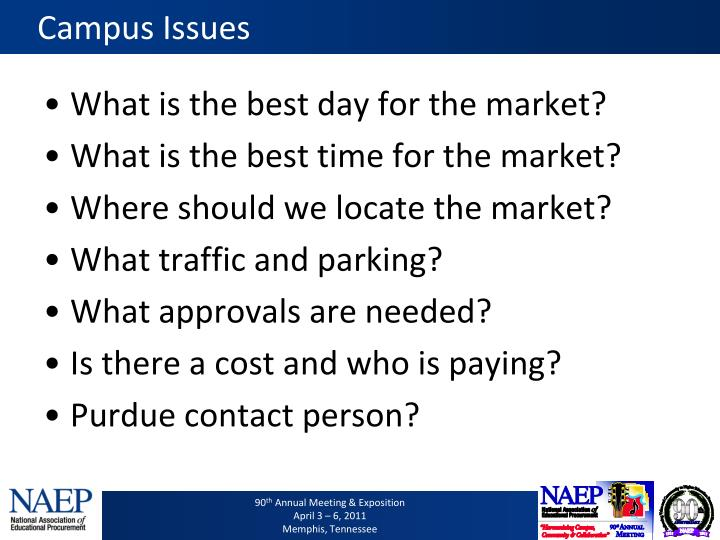 Campus Issues