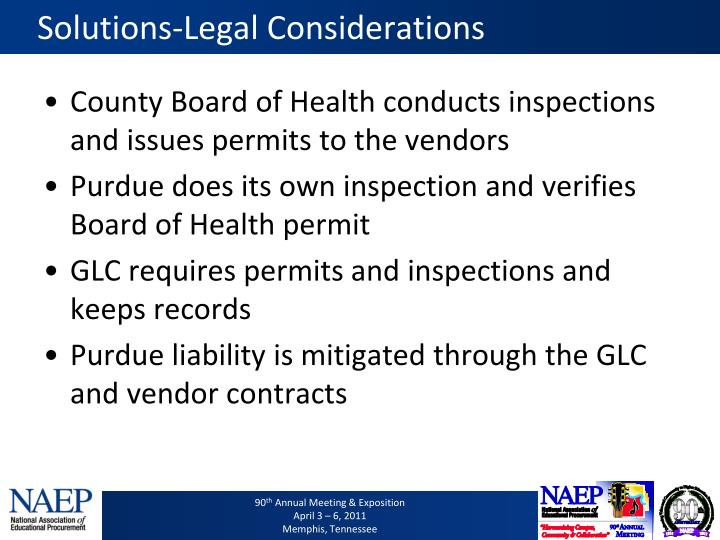 Solutions-Legal Considerations