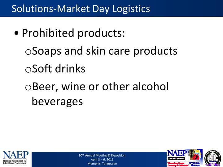 Solutions-Market Day Logistics