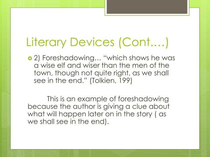 Literary Devices (Cont.…)