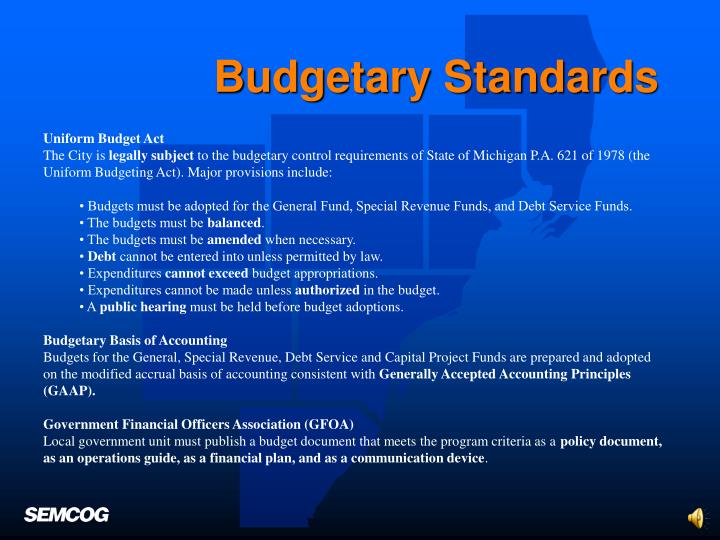 Budgetary Standards
