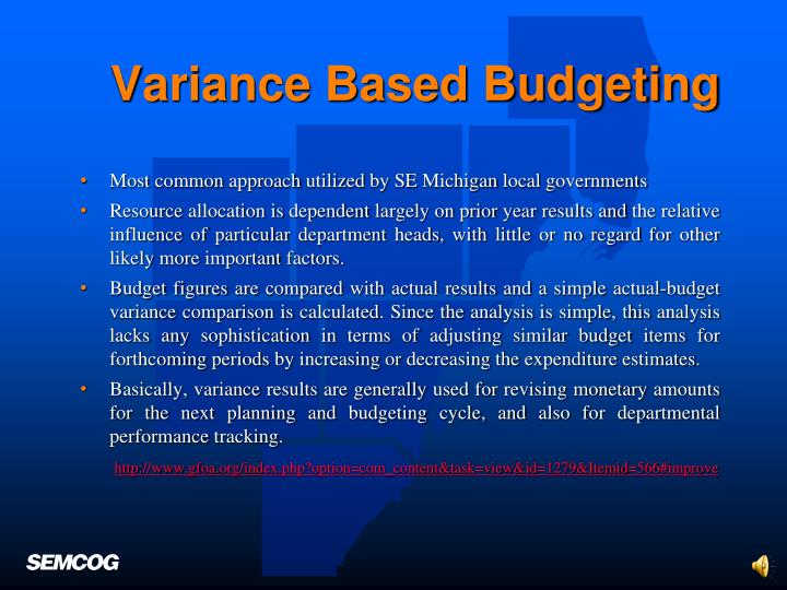 Variance Based Budgeting