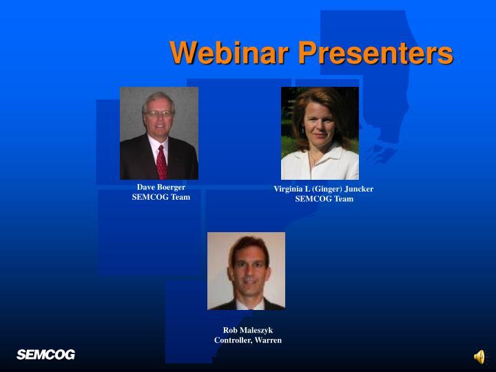 Webinar Presenters