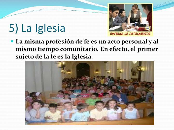 5) La Iglesia
