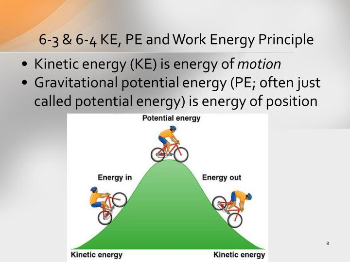 6-3 & 6-4 KE, PE and Work Energy Principle