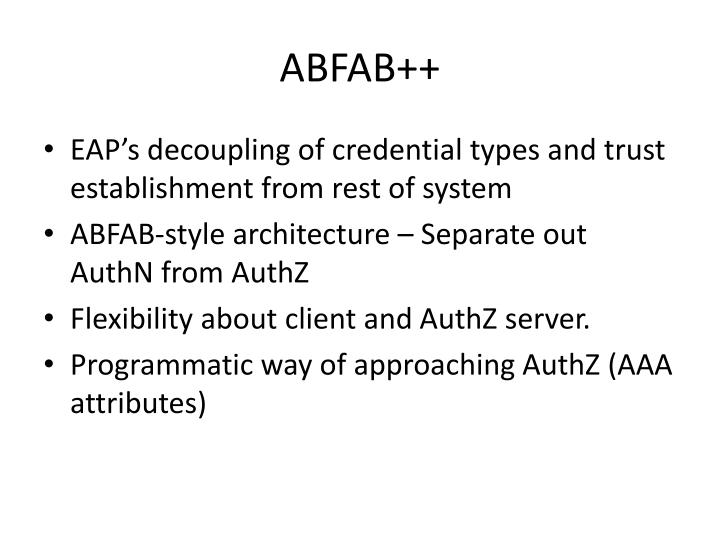 ABFAB++