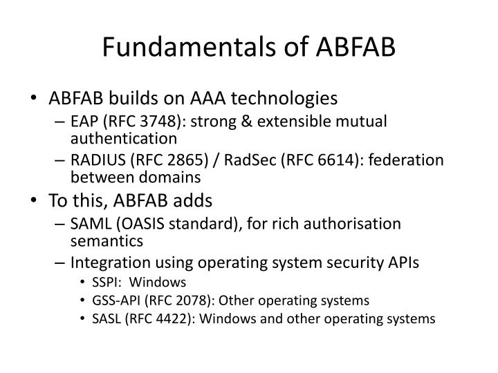 Fundamentals of ABFAB