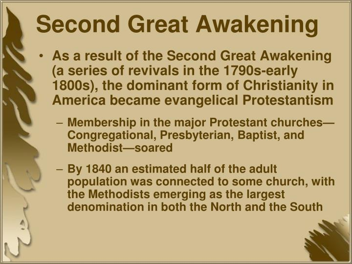 second great awakening Other articles where second great awakening is discussed: great awakening: a revival known as the second great awakening began in new england in the 1790s generally less emotional than the great awakening, the second awakening led to the founding of colleges and seminaries and to the organization of mission societies.