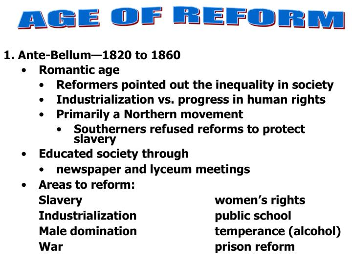 american reform movement 1820 1860 utopian society This philosophy had a strong influence on american society in the 1830s and 40s , and many adherents turned their attention to making america into a better place the transcendentalists, along with protestants from the second great awakening , initiated many successful reform movements in the antebellum era.
